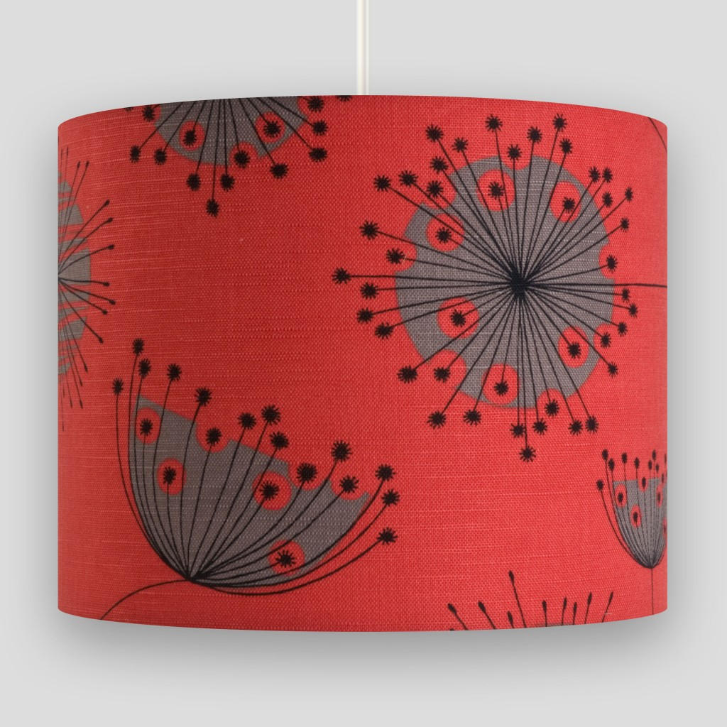 Dandelion Mobile Coral with Storm Lampshade