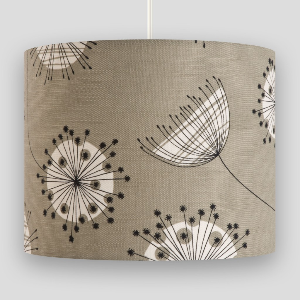 Dandelion Mobile French Grey with White Lampshade
