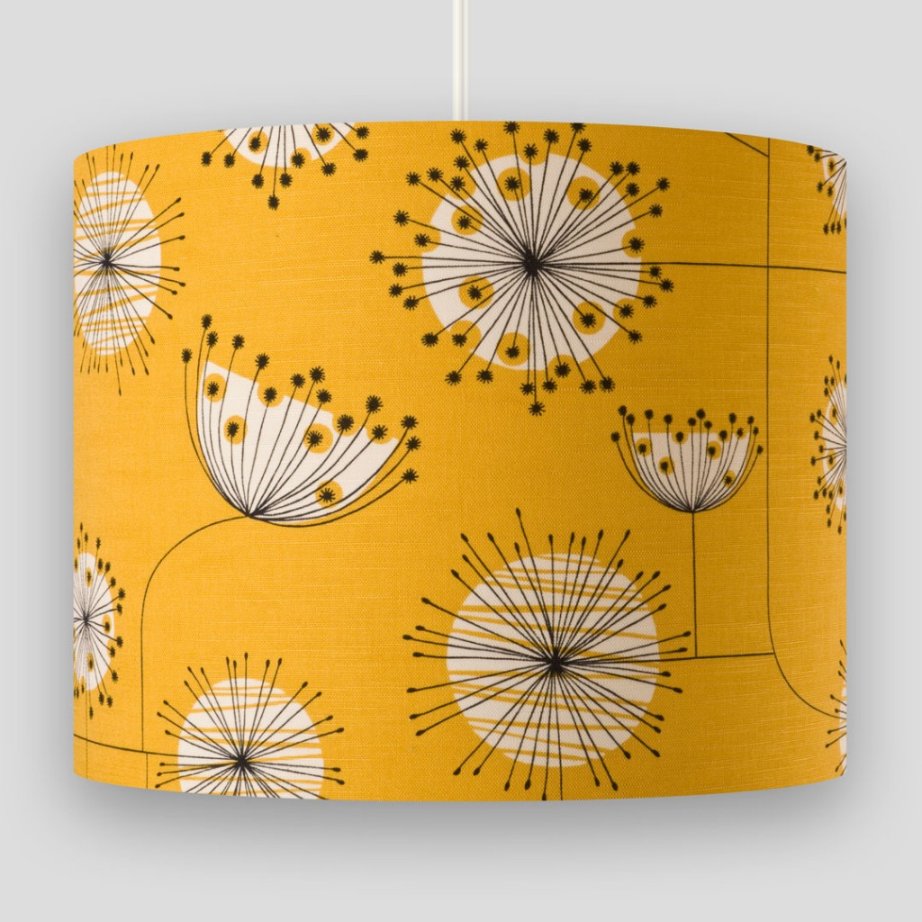 Dandelion Mobile Sunflower Yellow with White Lampshade