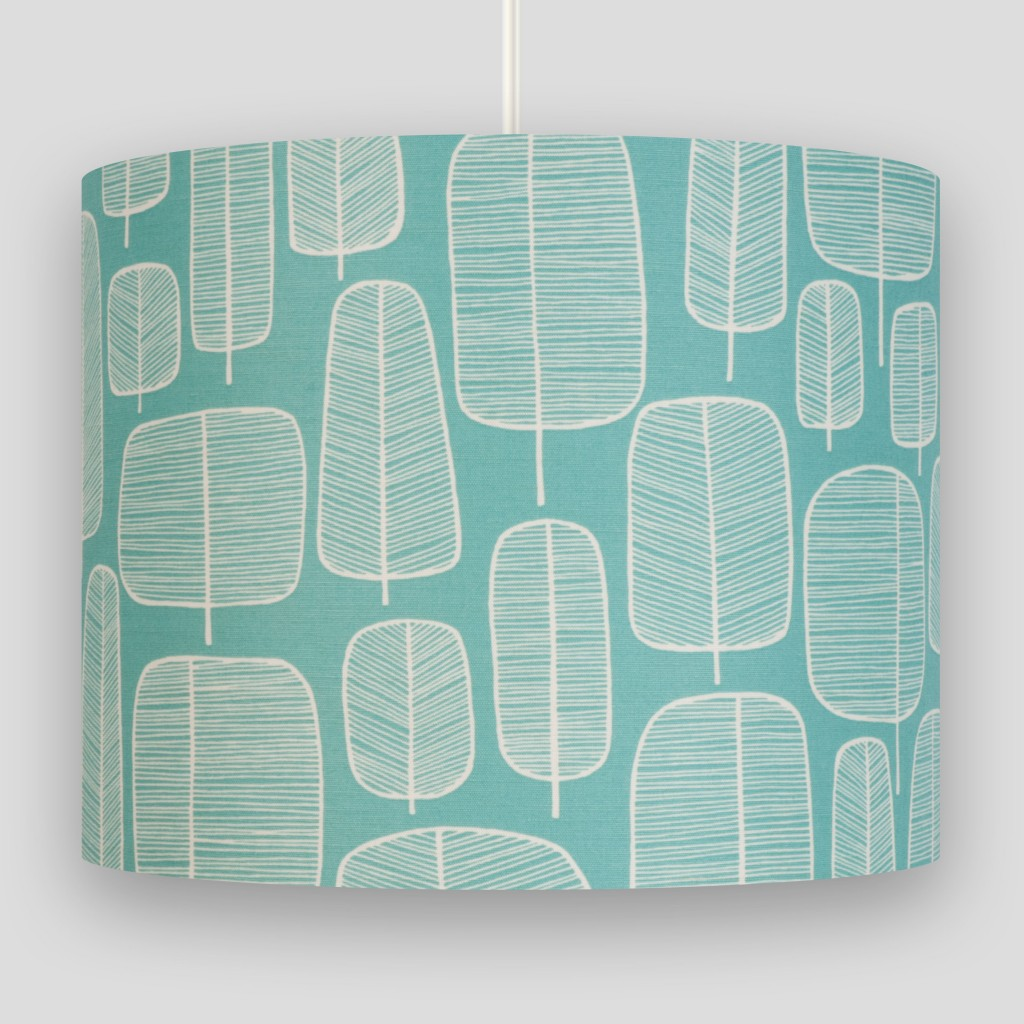 Little Trees Aquamarine Lampshade