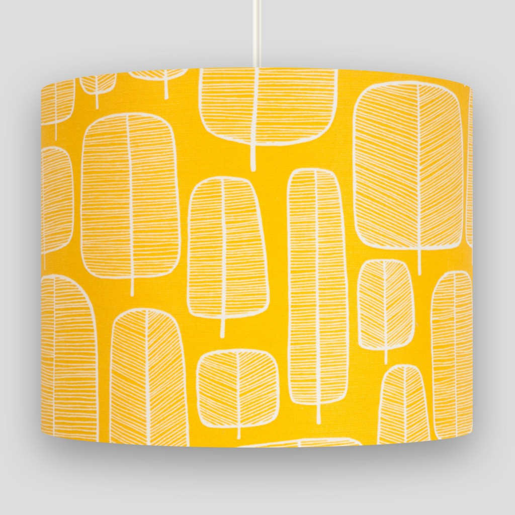 Little Trees Yellow Lampshade