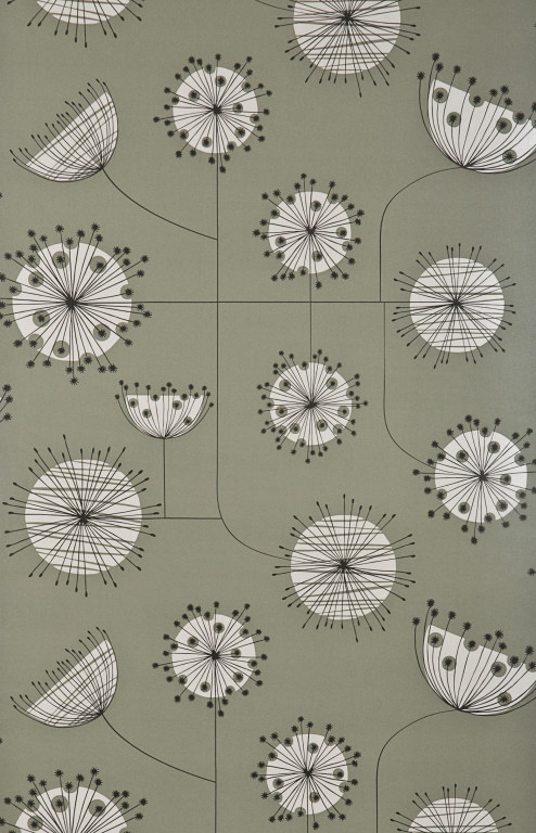 Dandelion Mobile French Grey With White Wallpaper
