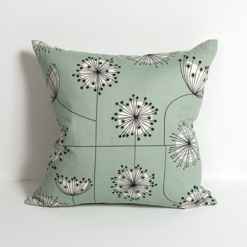 Dandelion Mobile Mist Green With White Cushion