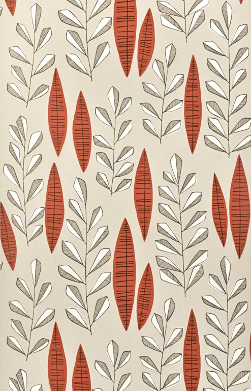 Garden City Putty Rouge Wallpaper