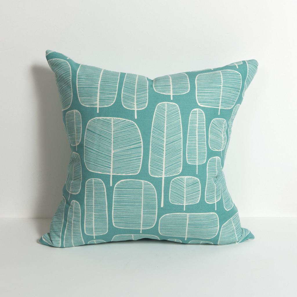Little Trees Aquamarine Cushion