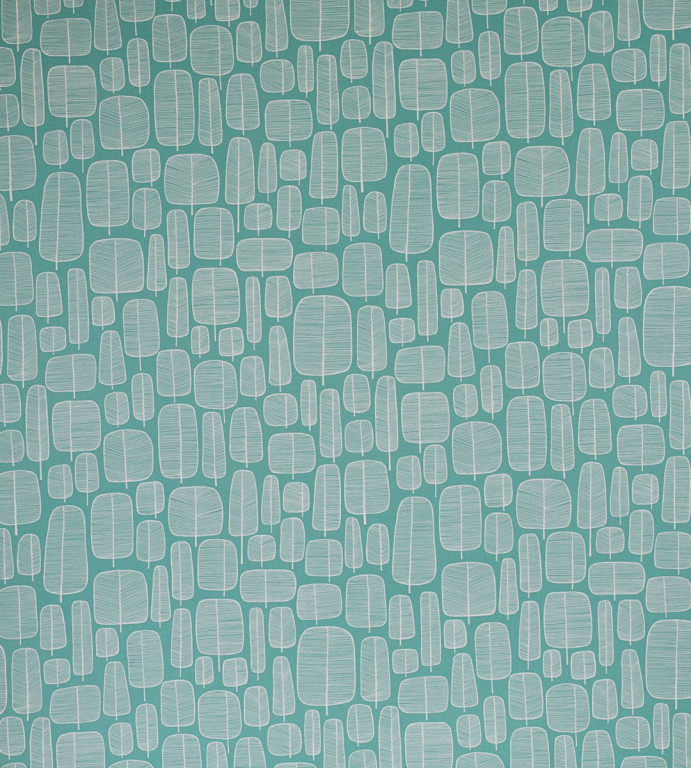 Little Trees Aquamarine Fabric