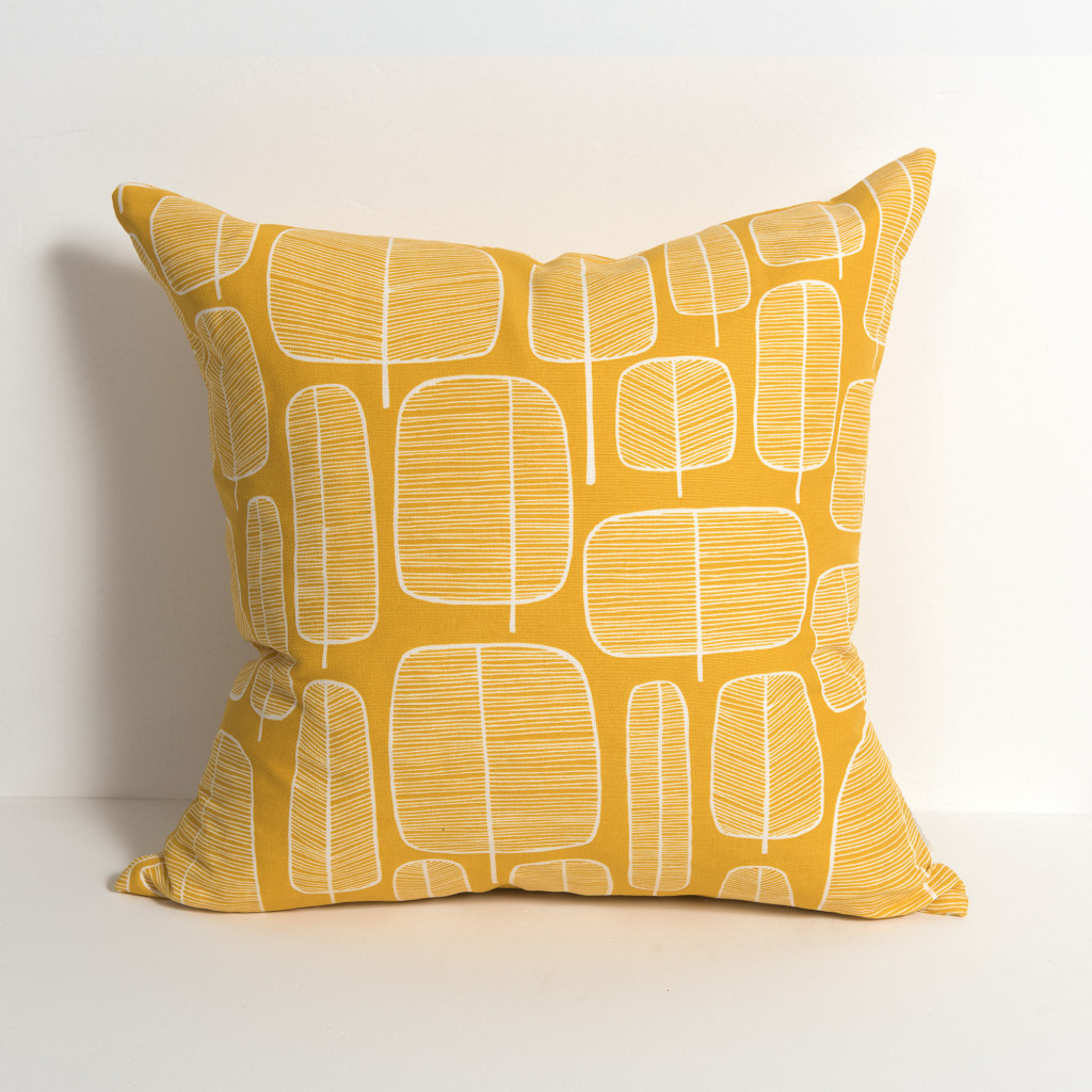 Little Trees Yellow Cushion