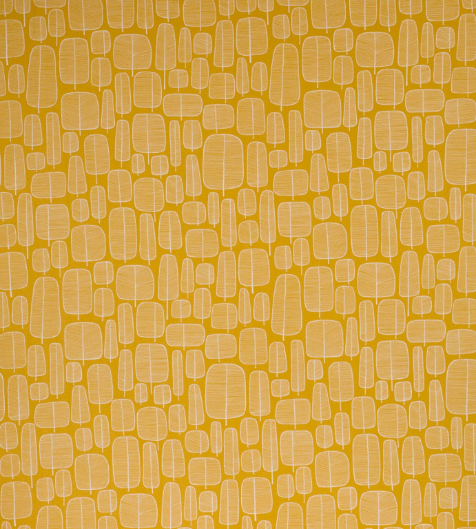 Little Trees Yellow Fabric