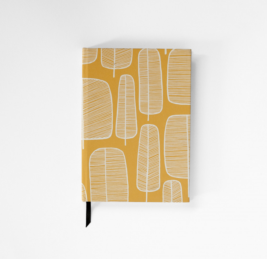 Little Trees Yellow Notebook