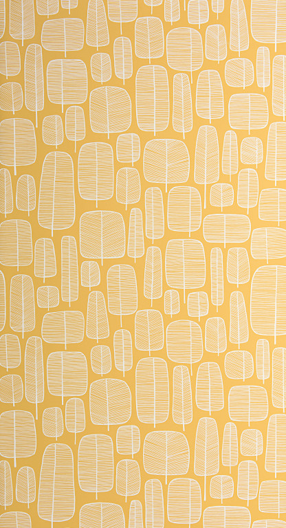 Little Trees Yellow Wallpaper
