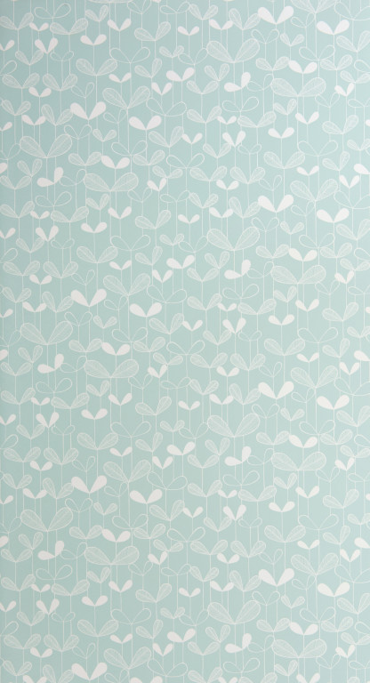 Saplings Pale Aqua Wallpaper