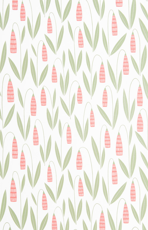 Snowdrops Chintz Wallpaper