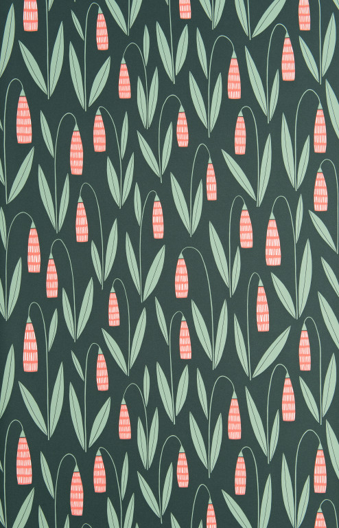 Snowdrops Evergreen Wallpaper