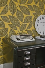 Pebble Leaf Wallpaper Lifestyle