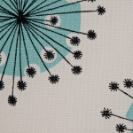 Dandelion Mobile Porcelain With Powder Blue Fabric