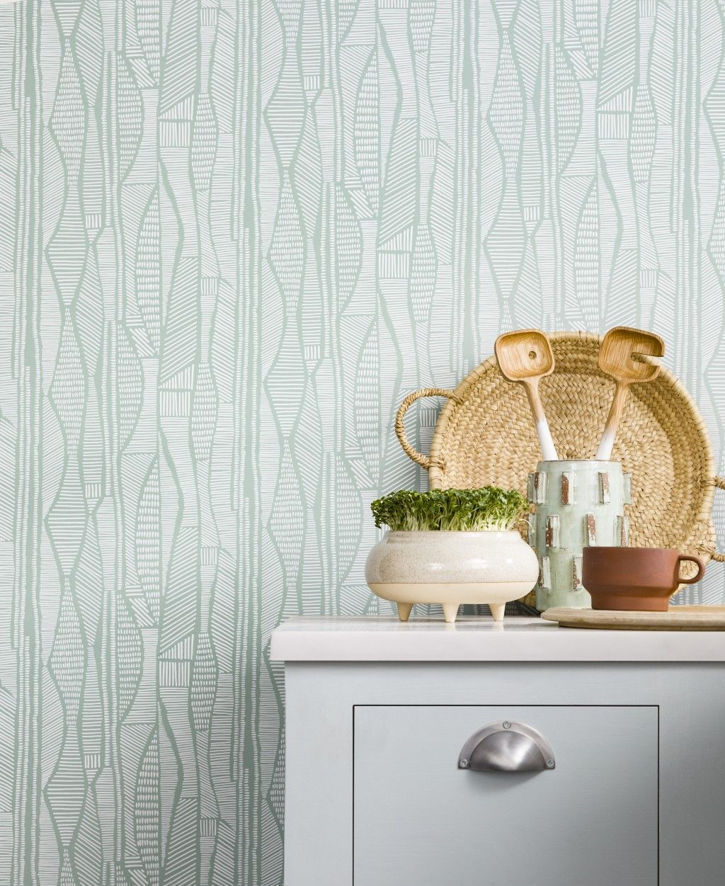 Mid-Century Kitchen Wallpaper