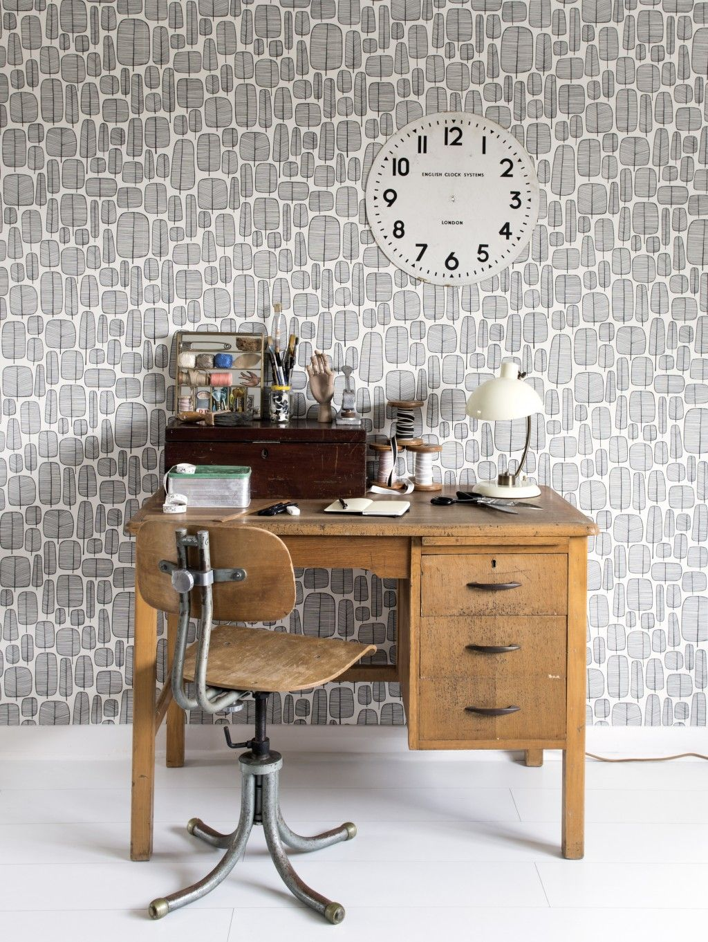 Scandi Office Wallpaper