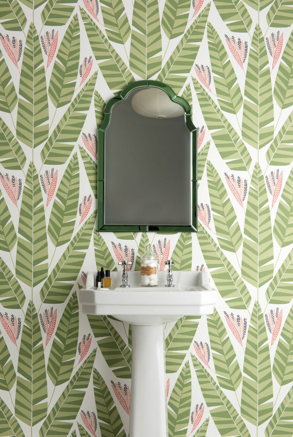 Botanical Bathroom Wallpaper