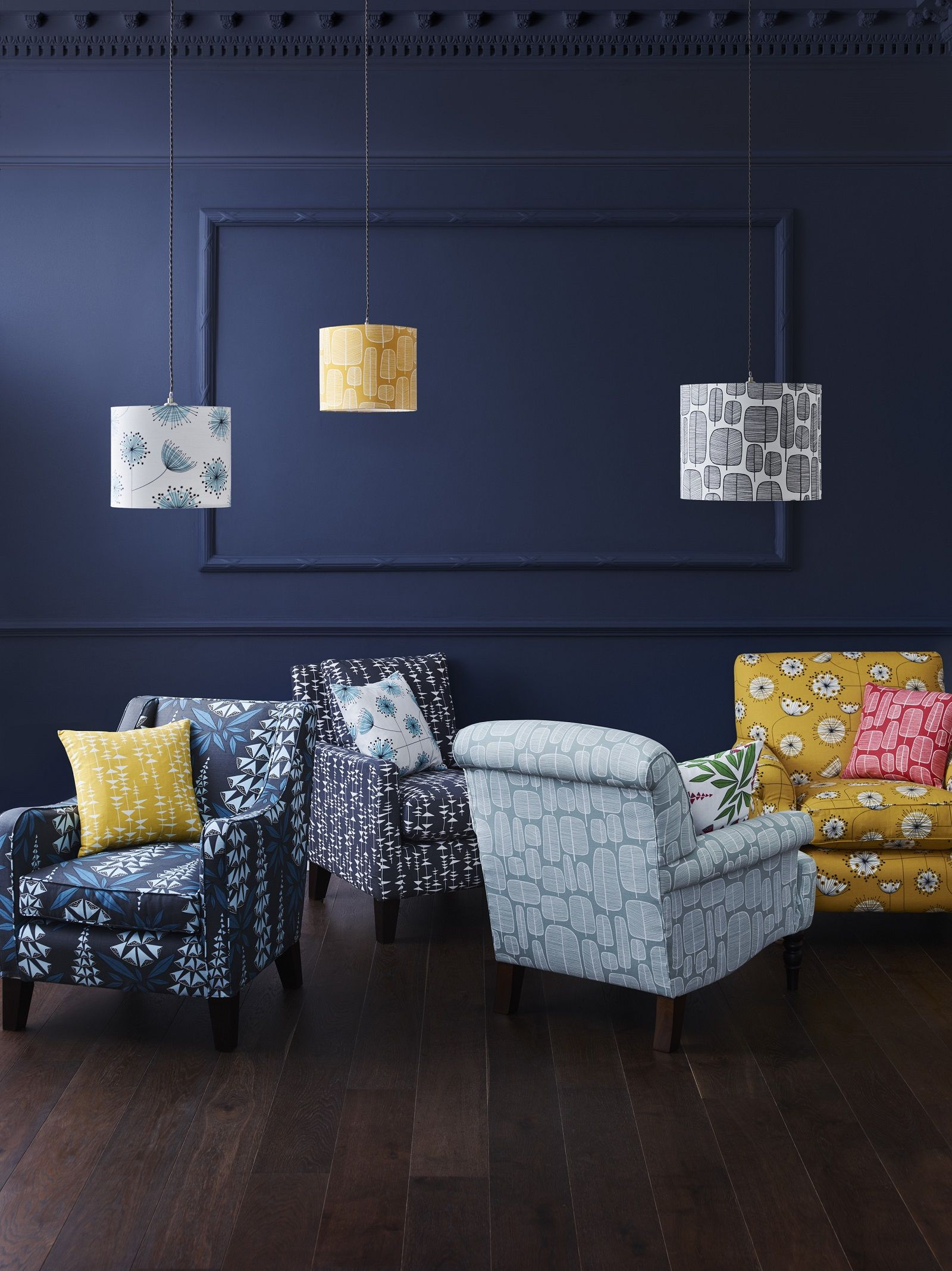 MissPrint fabric on Multiyork sofas and chairs